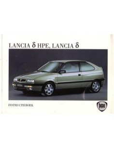 1996 LANCIA DELTA & HPE INSTRUCTIEBOEKJE + MAP