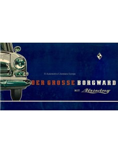 1960 GROSSE BORGWARD BROCHURE GERMAN