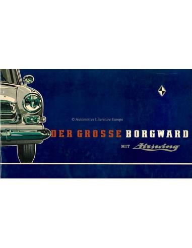 1960 GROSSE BORGWARD BROCHURE DUITS