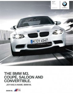 2010 BMW M3 COUPE / SALOON / CONVERTIBLE BROCHURE ENGLISH