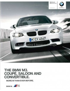 2009 BMW M3 COUPE / SALOON / CONVERTIBLE BROCHURE ENGLISH