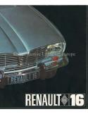 1965 RENAULT 16 BROCHURE ENGLISH
