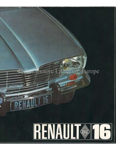 1965 RENAULT 16 BROCHURE ENGLISCH
