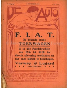 1910 DE AUTO MAGAZIN 36 NIEDERLÄNDISCH