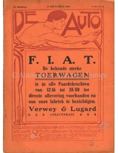 1910 DE AUTO MAGAZIN 37 NIEDERLÄNDISCH
