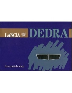 1989 LANCIA DEDRA INSTRUCTIEBOEKJE NEDERLANDS