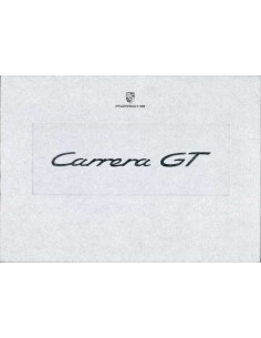 2003 PORSCHE CARRERA GT HARDCOVER BROCHURE IN BOX ENGELS