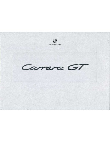 2003 PORSCHE CARRERA GT HARDCOVER BROCHURE BOX ENGELS