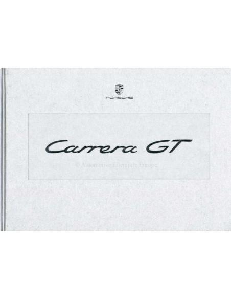 2003 PORSCHE CARRERA GT HARDCOVER BROCHURE BOX ENGELS
