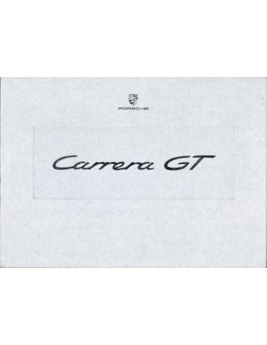 2003 PORSCHE CARRERA GT HARDCOVER BROCHURE BOX DUITS