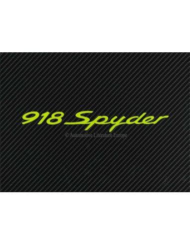 2012 PORSCHE 918 SPYDER HARDCOVER PROSPEKT + BOX ENGLISCH