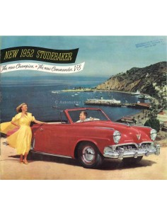 1952 STUDEBAKER COMMANDER V8 & CHAMPION BROCHURE ENGLISH
