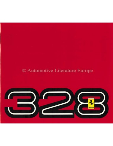 1989 FERRARI 328 GTB & GTS BROCHURE 394/85