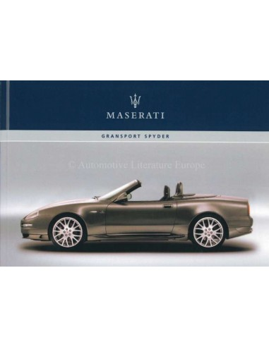 2006 MASERATI GRANSPORT SPYDER OWNERS MANUAL FRENCH