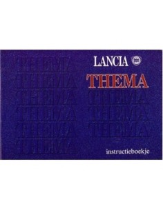 1991 LANCIA THEMA INSTRUCTIEBOEKJE NEDERLANDS