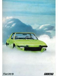 1973 FIAT X1/9 BROCHURE ENGELS