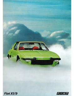 1973 FIAT X1/9 BROCHURE DUTCH