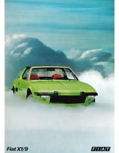 1973 FIAT X1/9 PROSPEKT NIEDERLÄNDISCH
