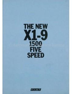 1978 FIAT X1/9 1500 BROCHURE NEDERLANDS