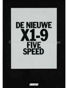 1978 FIAT X1/9 FIVE SPEED BROCHURE NEDERLANDS