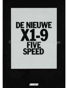 1978 FIAT X1/9 FIVE SPEED PROSPEKT NIEDERLÄNDISCH