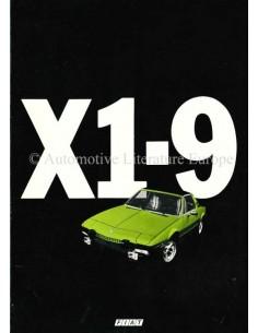 1978 FIAT X1/9 BROCHURE ITALIAN