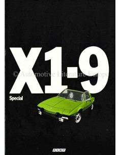 1978 FIAT X1/9 SPECIAL BROCHURE NEDERLANDS