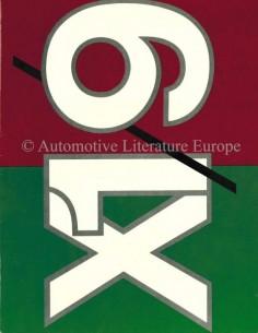 1975 FIAT X1/9 PROSPEKT ENGLISCH