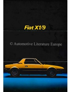 1973 FIAT X1/9 BROCHURE FRANS