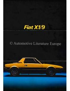 1973 FIAT X1/9 PROSPEKT FRANZÖSISCH