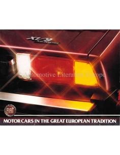 1972 FIAT X1/9 PROSPEKT ENGLISCH