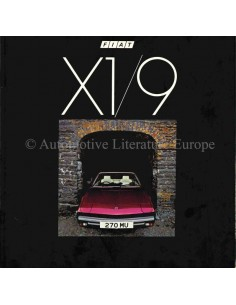1982 FIAT X1/9 BROCHURE ENGLISH