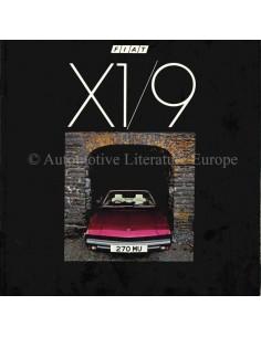 1982 FIAT X1/9 PROSPEKT ENGLISCH
