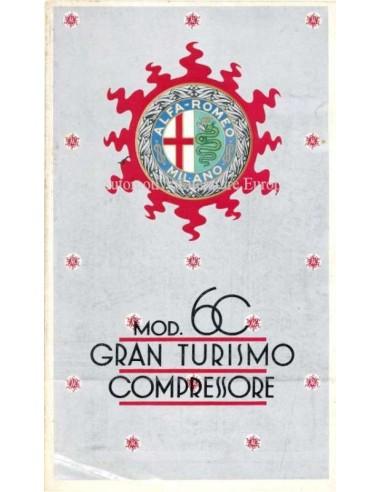 1931 ALFA ROMEO 6C  GRAN TURISMO COMPRESSORE BROCHURE FRENCH