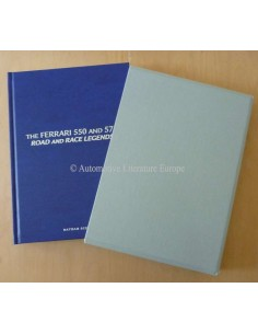 THE FERRARI 550 AND 575 ROAD AND RACE LEGENDS - THE BLUE LEATHER EDITION - NATHAN BEEHL - BOOK