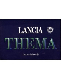 1986 LANCIA THEMA OWNERS MANUAL DUTCH