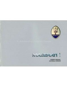 1988 MASERATI SPYDER I / BITURBO SI / 425I BETRIEBSANLNEITUNG ENGLISCH
