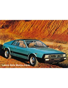 1976 LANCIA BETA MONTE-CARLO BROCHURE ENGLISH