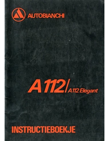 1976 AUTOBIANCHI A112 INSTRUCTIEBOEKJE NEDERLANDS