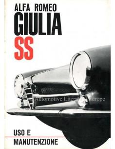 1963 ALFA ROMEO GIULIA SS BETRIEBSANLEITUNG ITALIENISCH
