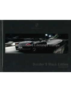 2012 PORSCHE BOXSTER S BLACK EDITION HARDBACK BROCHURE GERMAN