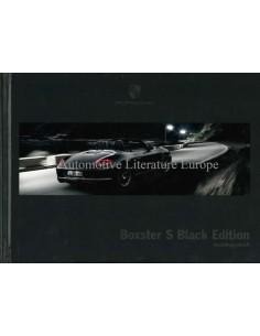 2012 PORSCHE BOXSTER S BLACK EDITION HARDCOVER PROSPEKT DEUTSCH