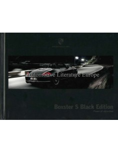 2012 PORSCHE BOXSTER S BLACK EDITION HARDCOVER PROSPEKT ENGLISCH