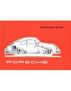 1956 PORSCHE 356A TECHNISCHE GEGEVENS BROCHURE DUITS