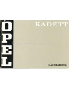 1971 OPEL KADETT BETRIEBSANLEITUNG NIEDERLÄNDISCH