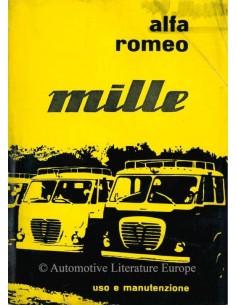 1959 ALFA ROMEO MILLE BETRIEBSANLEITUNG ITALIENISCH