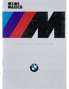 1986 BMW M3 M5 M 635 CSI BROCHURE DEUTSCH