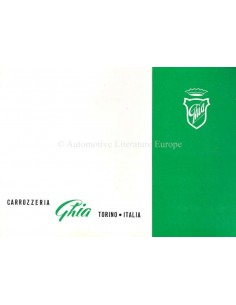 1954 ALFA ROMEO 1900 SS (GHIA) BROCHURE ITALIAN / ENGLISH