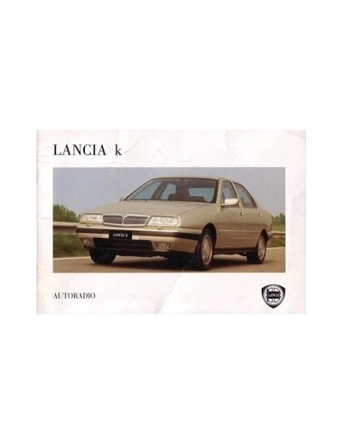 1995 LANCIA KAPPA RADIO INSTRUCTIEBOEK DUITS