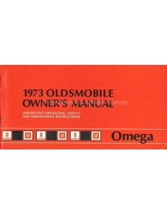 1973 OLDSMOBILE OMEGA OWNERS MANUAL HANDBOOK ENGLISH